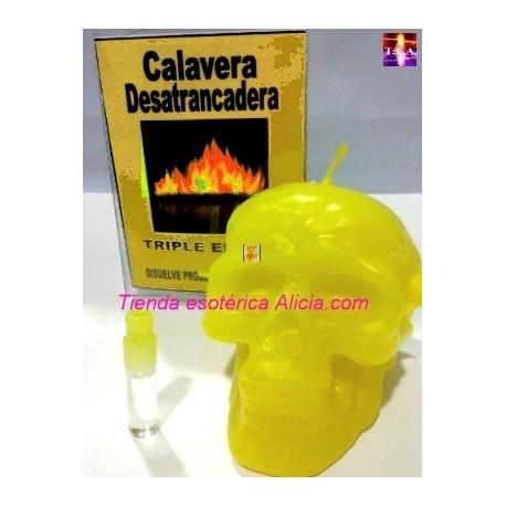 VELAS CALAVERA DESATRANCADERA DINERO